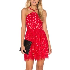 Cassia Circle Dress in Red